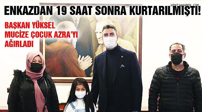 Mucize Çocuk Azra'dan Başkan Yüksel'e Ziyaret