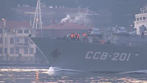 Rus istihbarat gemisi İstanbul Boğazı'ndan geçti