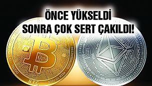 Bitcoin ve Ethereum Sert Düştü!
