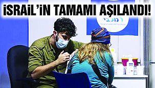 İsrail'in Tamamı Aşılandı! İşte Veriler