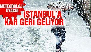 İstanbul'a Kar Geri Dönüyor!