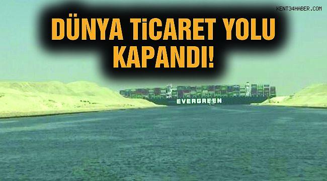 Süveyş Kanalı'nda Gemi Karaya Oturdu!