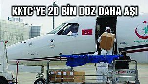 Türkiye KKTC'ye 20 Bin Doz Daha Aşı Gönderdi