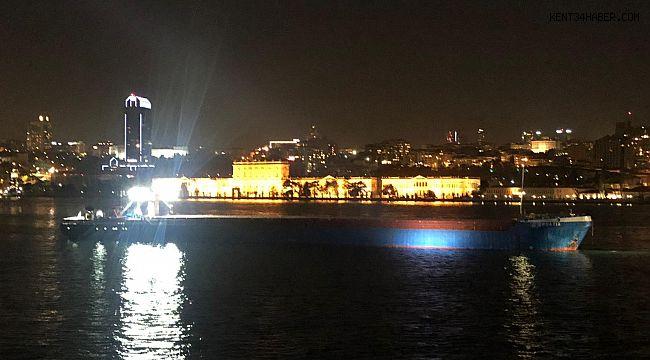 İstanbul Valiliği Duyurdu! Boğazda Yük Gemisi Arıza Yaptı