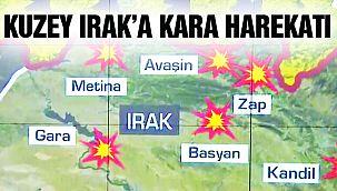 Kuzey Irak'a Geniş Çaplı Harekat!