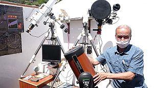 Uzay merakı için mini gözlemevi kurdu