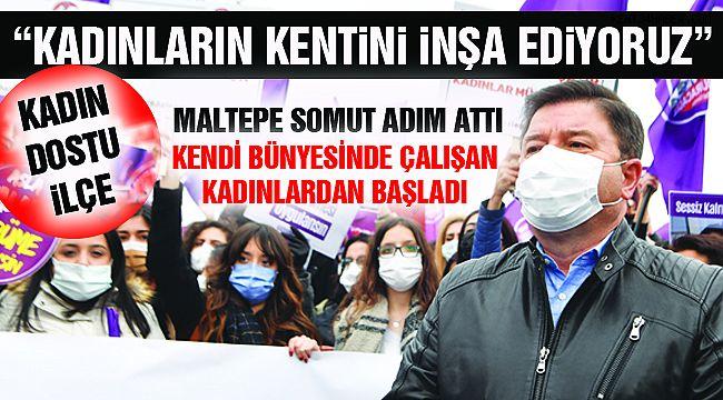 """Maltepe'den """"Kadına Şiddete"""" Net Tavır!"""