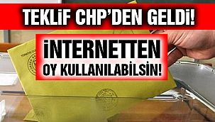 """CHP Önerdi: """"İnternetten Oy Verilebilmeli!"""""""