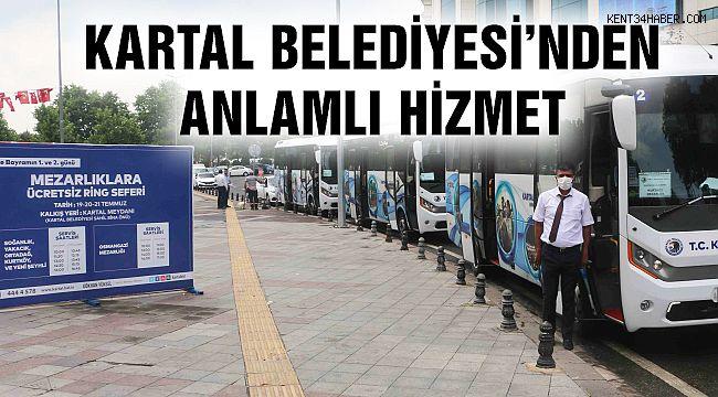 Kartal Belediyesi'nin Servisleri ile Binlerce Kartallı Mezar Ziyareti Yaptı