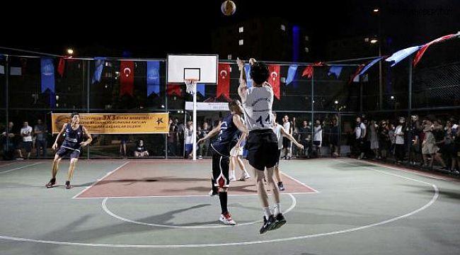 Sokak Basketbolu Turnuvası'nda Heyecanlı Mücadele